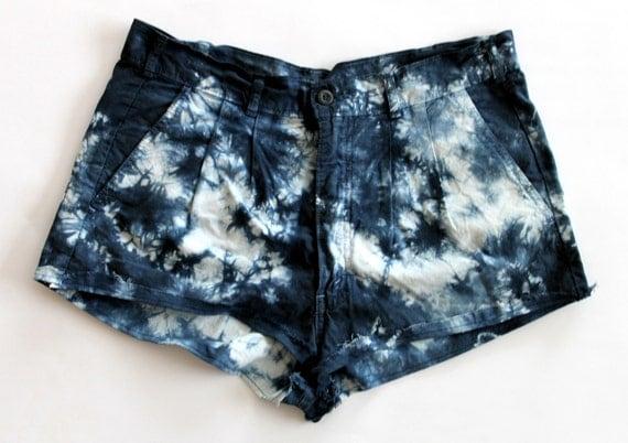Tye Dye Cotton Short Shorts