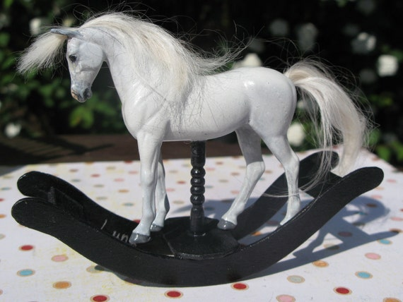 Unique Handmade Miniature Rocking Horse for the discerning collector. Handcrafted 1:12 scale