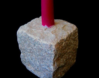 Cobblestone Candle Holder