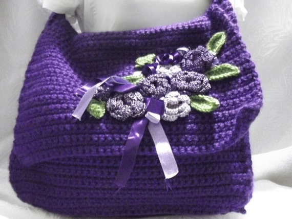 CORCHET HANGING BAG Mother's day gift Hanging Bag Flowering Ribbon Ready For Sale free shipping