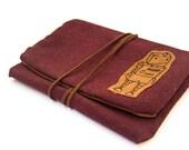 tobacco pouch tobacco case tobacco bag upholstery tobacco pouch pipe tobacco bag dark red  tobacco case robot case dark red tobacco bag