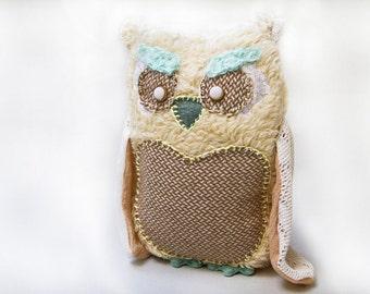 White Owl Plush, Stuffed Owl, Stuffed Animal, Owl Soft Toy, Owl Toy, Owl Softie, Children Soft Toy, Nursery Gift, Bird Plush, Bird Soft Toy