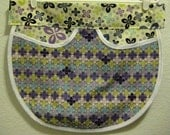 Purple and White Half Apron