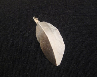 Gadwall Duck Wooden Feather Pendant