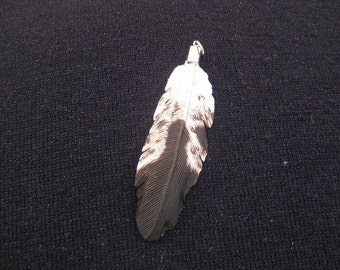 Juvenile Golden Eagle Wooden Feather Pendant