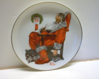 "Norman Rockwell Christmas Plate ""The Day After Christmas"" NEW"