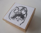 Rage Face Hand-Carved Stamp
