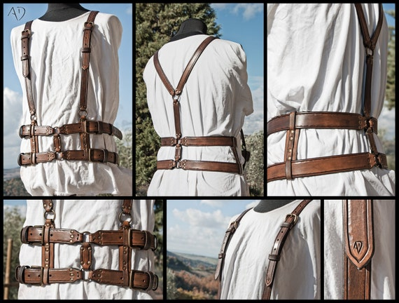 Steampunk Leather Harness