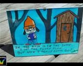 Parappa needs to Potty - Painting by Michigan artist Selena Hautamaki