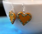 Ginger Hearts Earrings - blue