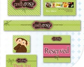 Logo Design with Etsy, Avatar, Banner, Reserved Listing Graphic - Business Card, Thank You Card
