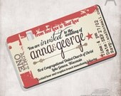 Wedding Invitation movie ticket / Bridal invitation/ Birthday / Baby shower invitation / FILE ONLY