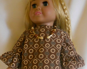 American Girl Doll Top, Pants & Necklace 3 Pc