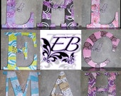 Personalized Custom Made Monograms- Collage Letters