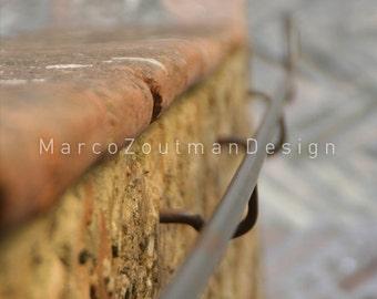 "Italian stair handrail - 8x8"" photography print"