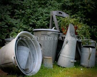 "Old zinc stuff - 8x8""photograpy print"