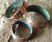 Handmade, Recycled Material Rustic Copper Ring