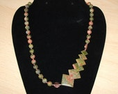 Unakite and Copper Necklace- OOAK