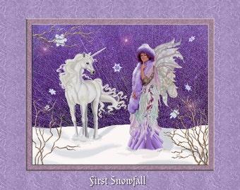 First Snowfall 8x19 Print