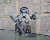 Rob The Hockey Goalie, Recycled Metal Art