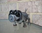 Slink The Weiner Dog, Recycled Metal Sculpture