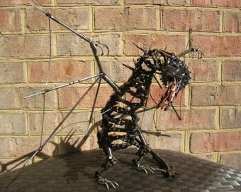 Mirko The Copper Back Dragon, Recycled Metal Sculpture
