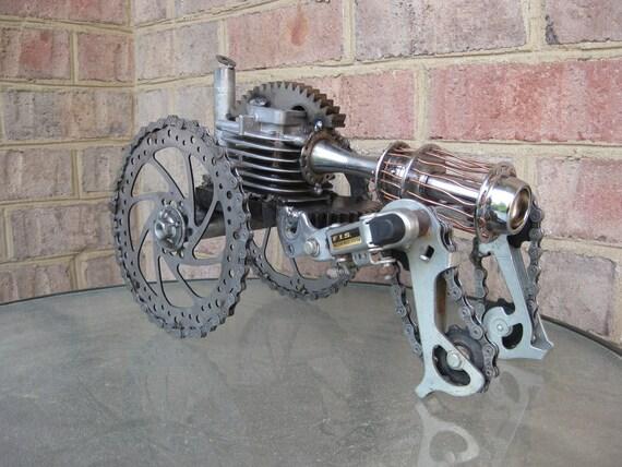 Steampunk Crawler Tank, Recycled Metal Sculpture