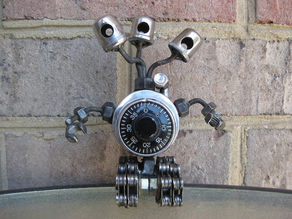 Medusa The Lock.Bot, Recycled Metal Sculpture