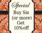 "You must enter the code ""LOVELY"" to get the Special: Buy six or more patterns, get 10% off."