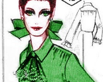 Plus Size (or any size) Vintage 1969 Womens Blouse Pattern - PDF - Pattern No 12 Heidi