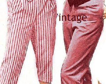 Plus Size (or any size) Vintage 1949 Capri pants / pedal pushers Sewing Pattern - PDF - Pattern No 32 Cecilia Pants
