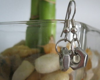 Hex Nut Earrings