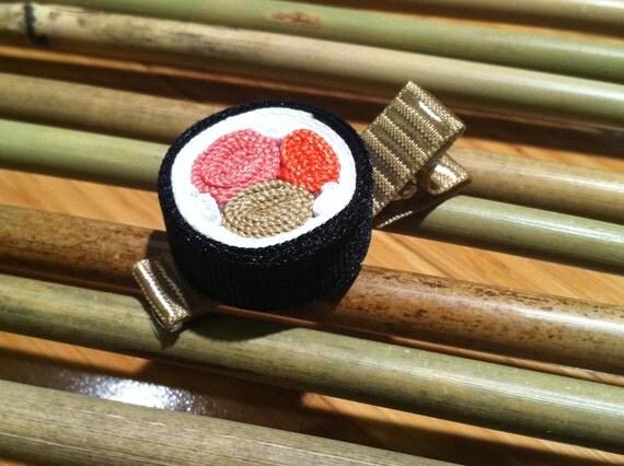 Sushi Hair Clip - Special Maki Ribbon Roll