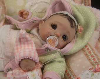 Tutorial for Binky Pacifier Dummy Dummies Instructions , Embellishing Touches for Ooak Polymer Clay Baby Art Doll
