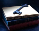 Vintage Hardcover Books in Mustard Yellow Cinnamon and Black, Home Library or Decor, Murder Mystery