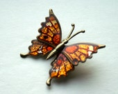 Metallic Butterfly Brooch