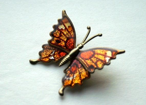 Metallic Butterfly Brooch