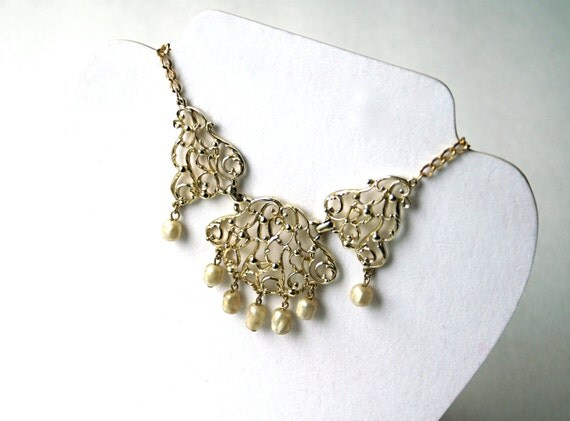 Vintage Statement Bib Necklace by Sarah Coventry