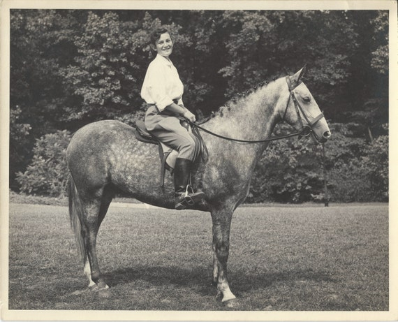 The Way We Were - Vintage 1940s Horse and Equestrienne Photograph