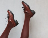 Brown leather waterproof shoes size 8 38