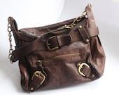 5th avenue brown leather handbag