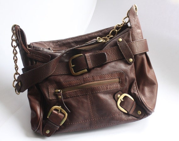 5th avenue brown leather handbag