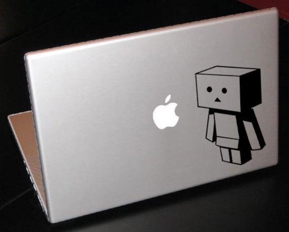 "Danbo Little Box Man Looking Up 15"" Macbook Apple Laptop Decal"