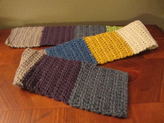 Crochet multicolored scarf