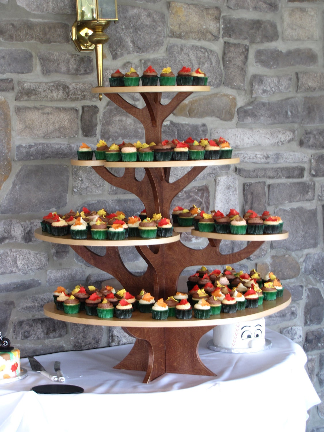 Wooden Cupcake Tree By Joshuabutler On Etsy. Full resolution  portrait, nominally Width 1125 Height 1500 pixels, portrait with #9A7531.