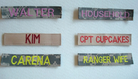 with velcro custom military name tapes embroidered military. Black Bedroom Furniture Sets. Home Design Ideas