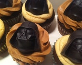 Darth Vader Chocolates. One dozen solid vanilla chocolates. Star Wars. Made to order.