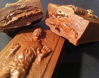 Han Solo in Carbonite Chocolate Truffle Bar. 3 Pack, Filling of Your Choice. Star Wars Candy.