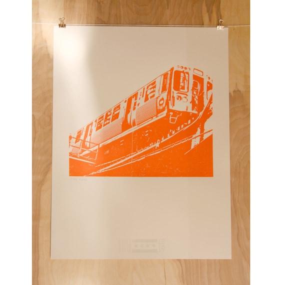 Chicago Orange Line PRINT