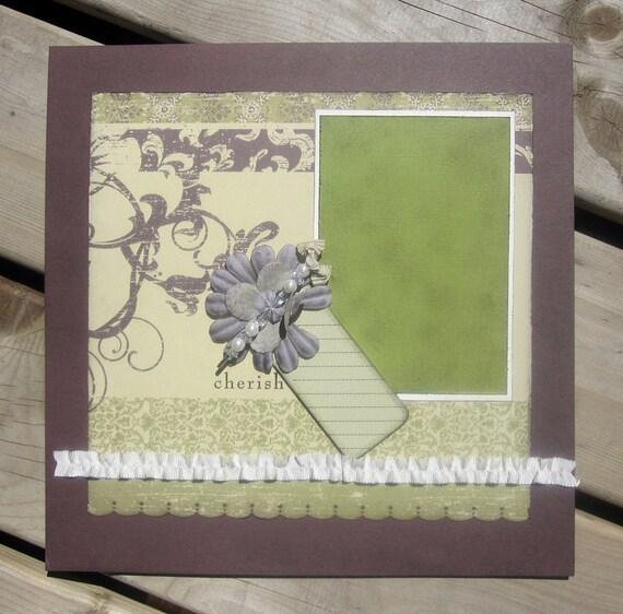 12x12 Premade Scrapbook Pages Wedding Cherish Heirloom